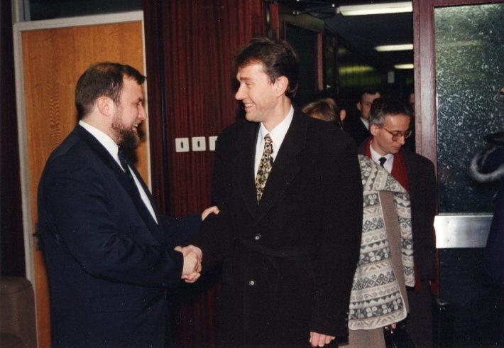 Belgia välisminister Frank Vandenbroucke kohtumas välisminister Jüri Luigega