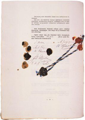 Tartu rahulepingu allkirjad. Foto: Rahvusarhiiv